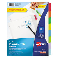 Avery 16751 8-Tab Movable Tab Dividers