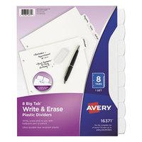 Avery 16371 Big Tab Write & Erase 8-Tab White Dividers