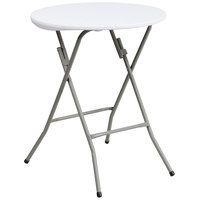 Flash Furniture DAD-YCZ-80R-1-SM-GW-GG 24 inch Round Granite White Plastic Folding Table