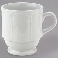 Tuxton CHM-085 Chicago 9 oz. Bright White Stackable China Mug - 36/Case