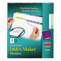 Avery 11991 Index Maker 8-Tab Multi-Color Divider Set with Clear Label Strip - 5/Pack