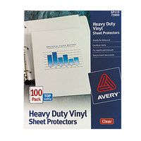 Avery 73900 8 1/2 inch x 11 inch Clear Heavy-Duty Vinyl Sheet Protectors - 100/Box