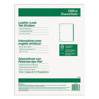 Avery Office Essentials 11483 Pre-Printed Black Leather 25-Tab A-Z Dividers