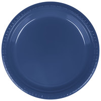 Creative Converting 28113721 9 inch Navy Blue Plastic Plate - 240/Case