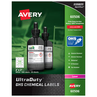 Avery 60506 UltraDuty 2 inch x 2 inch GHS Chemical Labels for Laser Printers - 600/Box