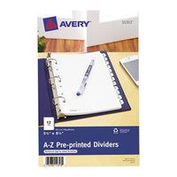 Avery 11313 Mini Pre-Printed 12-Tab A-Z Dividers