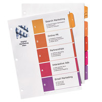 Avery 13154 Ready Index 5-Tab Customizable Table of Contents Dividers with Sub-Dividers