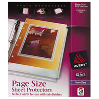 Avery 74204 8 1/2 inch x 11 inch Nonglare Heavyweight Top-Load Sheet Protector, Letter - 50/Box