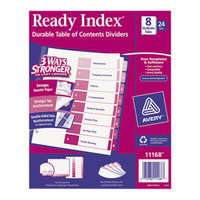 Avery 11168 Ready Index 8-Tab Multi-Color Table of Contents Divider Set - 24/Box
