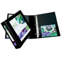 Avery 68032 Black Heavy-Duty Framed View Binder with 2 inch Locking One Touch EZD Rings