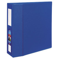 Avery 21017 Dark Blue Heavy-Duty Non-View Binder with 4 inch One Touch EZD Rings and Spine Label Holder
