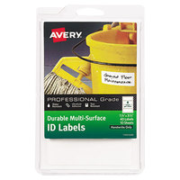 Avery 61522 1 1/4 inch x 3 1/2 inch White Multi-Surface ID Labels - 40/Pack