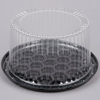 D&W Fine Pack G21-1 7 inch 2-3 Layer Cake Display Container with Clear Dome Lid - 10/Pack