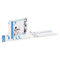 Avery 72124 White Heavy-Duty View Binder with 1 inch Slant Rings