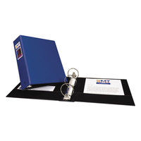 Avery 4600 Blue Economy Non-View Binder with 3 inch Round Rings and Spine Label Holder