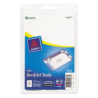 Avery 5278 1 1/2 inch White Round Write-On / Printable Booklet Seals - 240/Pack