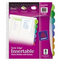 Avery 11295 Pre-Printed 6-Tab Pocketed Plastic Dividers