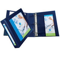 Avery 68033 Navy Blue Heavy-Duty Framed View Binder with 2 inch Locking One Touch EZD Rings