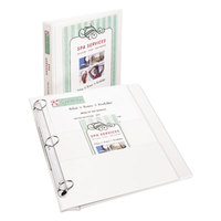 Avery 17580 White Flip Back 360 Degree View Binder with 1 inch Round Rings