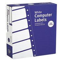 Avery 4031 15/16 inch x 3 1/2 inch White Dot Matrix Mailing Labels - 15000/Box