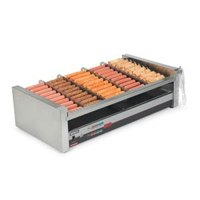 Nemco 8230SX-SLT Digital Slanted Hot Dog Roller Grill with GripsIt Non-Stick Coating - 30 Hot Dog Capacity (120V)