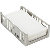 Cal-Mil 1606-55 Stainless Steel Squared Napkin Holder - 9 1/4 inch x 5 1/4 inch x 2 1/2 inch