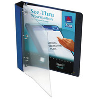 Avery 10851 Blue See-Thru View Binder with 1 inch Round Rings