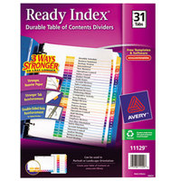Avery 11129 Ready Index Day-of-the-Month Multi-Color Table of Contents Dividers