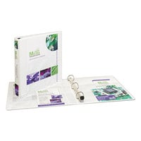 Avery 1318 White Heavy-Duty View Binder with 1 inch Locking One Touch EZD Rings and Extra-Wide Covers