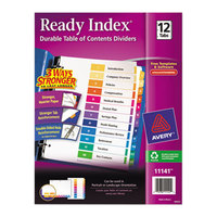 Avery 11141 Ready Index 12-Tab Multi-Color Table of Contents Dividers