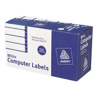 Avery 4022 1 15/16 inch x 4 inch White Dot Matrix Mailing Labels   - 5000/Case