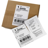 Avery 27902 5 1/16 inch x 7 5/8 inch White Rectangular Shipping Labels with Paper Receipts - 500/Case