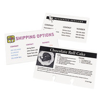 Avery 5388 3 inch x 5 inch White Printable Unruled Index Cards  - 150/Pack