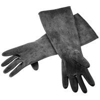 """Black Natural Latex Gloves 18"""" Long"""