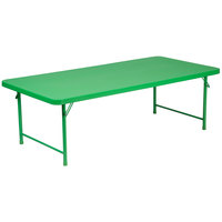 Flash Furniture RB-3060-KID-GN-GG 30 inch x 60 inch Kids Green Plastic Folding Table