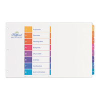 Avery 11148 Ready Index Ledger Size 8-Tab Multi-Color Table of Contents Dividers