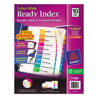 Avery 11165 Ready Index Extra Wide 10-Tab Multi-Color Table of Contents Dividers