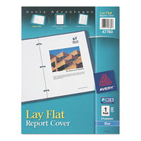 Avery 47780 11 inch x 8 1/2 inch Blue Lay Flat Plastic Report Cover with Translucent View Window and Flexible Fasteners, Letter