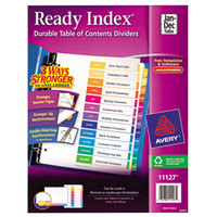 Avery 11127 Ready Index Monthly Multi-Color Table of Contents Dividers