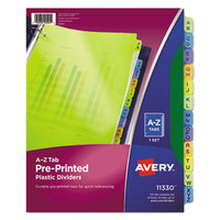 Avery 11330 Pre-Printed 12-Tab Multi-Color A-Z Plastic Dividers