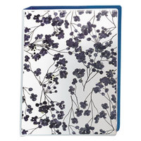Avery 18444 Floral/Navy Mini Durable Non-View Style Binder with 1 inch Round Rings