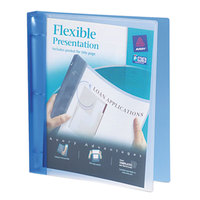 Avery 17675 Blue Flexi-View Binder with 1 inch Round Rings