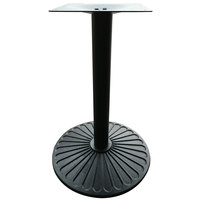 Art Marble Furniture Z14-22D 21 1/2 inch Round Black Cast Iron Standard Height Table Base