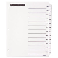 Avery Office Essentials 11678 Table 'n Tabs White 12-Tab Jan-Dec Dividers
