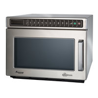 Amana HDC1815 Heavy-Duty Stainless Steel Commercial Microwave with Push Button Controls - 208/240V, 1800W - Canadian Use Only