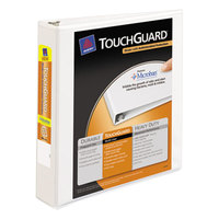 Avery 17142 White TouchGuard Antimicrobial View Binder with 1 1/2 inch Slant Rings