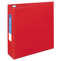 Avery 79583 Red Heavy-Duty Non-View Binder with 3 inch Locking One Touch EZD Rings