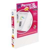 Avery 23011 White Protect and Store Mini Durable View Binder with 1 inch Round Rings
