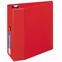 Avery 79586 Red Heavy-Duty Non-View Binder with 5 inch Locking One Touch EZD Rings