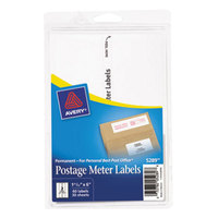 Avery 5289 1 25/32 inch x 6 inch White Rectangular Postage Meter Label - 60/Pack